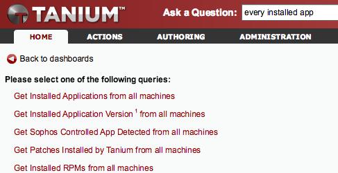 Tanium Server API - Tanium Knowledge Base